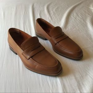 Wolf & Shepherd tan leather loafers dress shoes